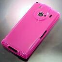 ◇ Docomo T-01C 전용 REGZA Phone (レグザフォン) 소프트 커버 핑크 BPJT01CPK