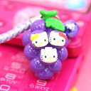 ◆ three brothers with Yamanashi limited edition Hello Kitty (HELLOKITTY) grape version netsuke strap