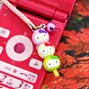 ◆ Kyoto limited edition Hello Kitty (HELLOKITTY) dango three brothers version netsuke strap fs3gm