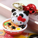 ◆ Kobe limited edition Hello Kitty (HELLOKITTY) Kobe Chinese city ラーメンパンダキティ netsuke strap