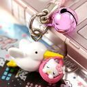□ ◆ Hello Kitty Stork Kitty netsuke strap pink fs3gm