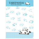 Tare-Panda clear holder Blue English FY97806