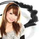"◆ カチューム fluffy fur and Pearl elegant? s heaakuse / hair accessories / hair/Party invited here range / ornament / headband/hairband."""". """