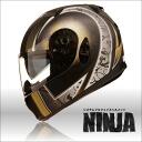 원터치 이너 챙 있는 풀 페이스 헬멧 NINJA 닌자 매트 피닉스 그래픽