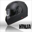 원터치 이너 챙 있는 풀 페이스 헬멧 NINJA 닌자 단일 색상