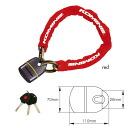 스퀘어 체인 패드 락 Square Chain Pad Lock 09-111 LK-111 오토바이용 fs04gm