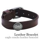 Eagle concho leather bracelet leather fs3gm