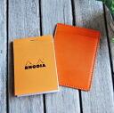 Rodia memo pad 11 leather RHODIA No.11 / note pad holders