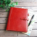 [real leather system notebook A5 size]