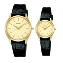Seiko watch Dolce & exe line flat-screen palocci leather SEIKO SACM150-SWDL160 gift pair watches couple watches brand