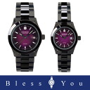 Swiss military pair watch (black / purple) elegant black SWISS MILITARY ELEGANT BLACK ML189+ML191