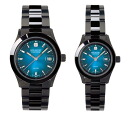 Swiss military pair watch (black / blue) elegant black SWISS MILITARY ELEGANT BLACK ML272+ML273