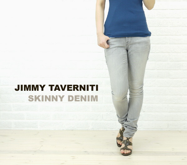 Wearing image of JIMMY TAVERNITI( Jimmy タヴァニティ) SKINNY DENIM .81101042