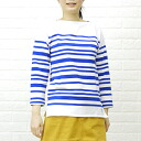 オーチバル ORCIVAL オーシバル cotton long sleeve boat neck border t-shirt (random / white base) 6803-0321301