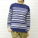 ORCIVAL (オーチバル-オーシバル) cotton long sleeve boat neck border t-shirt (random / Navy base)-6803-0321301