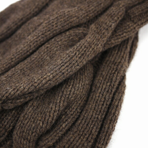 Detailed image of GLEN GORDON( Glenn Gordon) Angola blend wool cable knitting knit leg warmer, NGLW1171