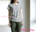 Schane Frau( シェーネフラウ) back ribbon horizontal stripe T .32402-1,491,101