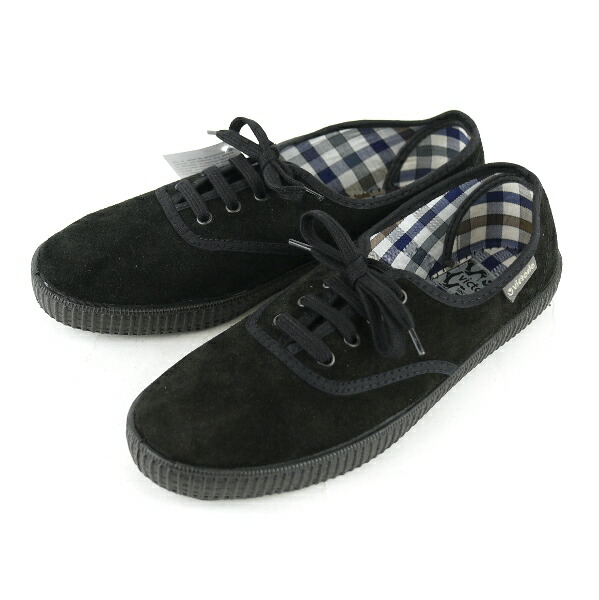 "Color image of Victoria (Victoria) suede checked pattern insole low-frequency cut sneakers ""INGLESA SERRAJE"" .06787"