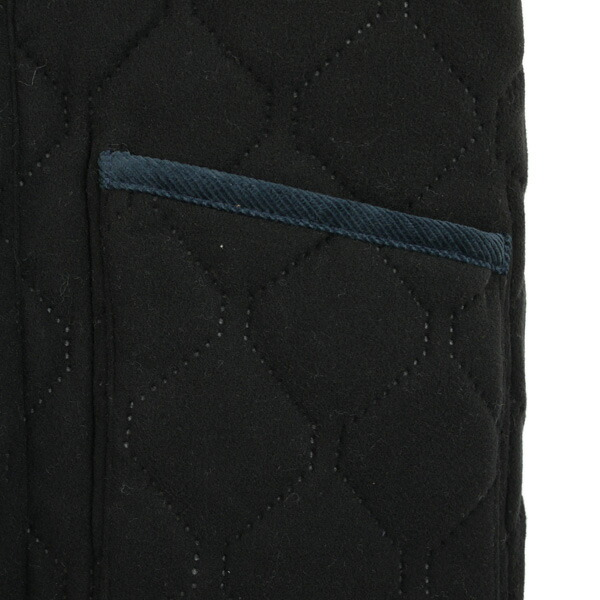 Detailed image of ARMEN( Amen) polyester quilting high neck double zip reversible jacket, NAM0565