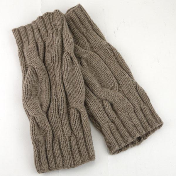Color image of GLEN GORDON( Glenn Gordon) Angola blend wool cable knitting knit leg warmer, NGLW1171