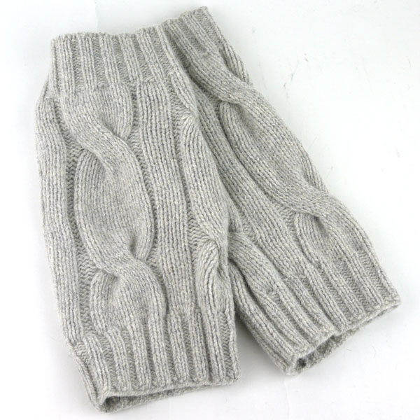 Color image of GLEN GORDON( Glenn Gordon) Angola blend wool cable knitting knit leg warmer, NGLW1171