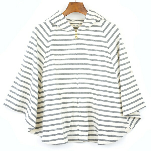 Color image of BCB comment * DINASTIE( ディナスティ) horizontal stripes zip improving cape .12070100723120