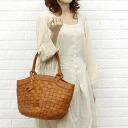 anyam nya robita( アニャムニャロビタ) mesh leather round bottom tote bag (L), AN-052L-2621302