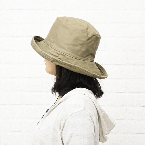 "Wearing image of HAT attack( hat attack) UV cut cotton hat ""Washed Cotton Crusher"", CYC809"
