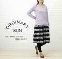 ORDINARY SUN( ordinary sun) cotton T-cloth long sleeves crew neck T-shirt, BCT-006-2721202