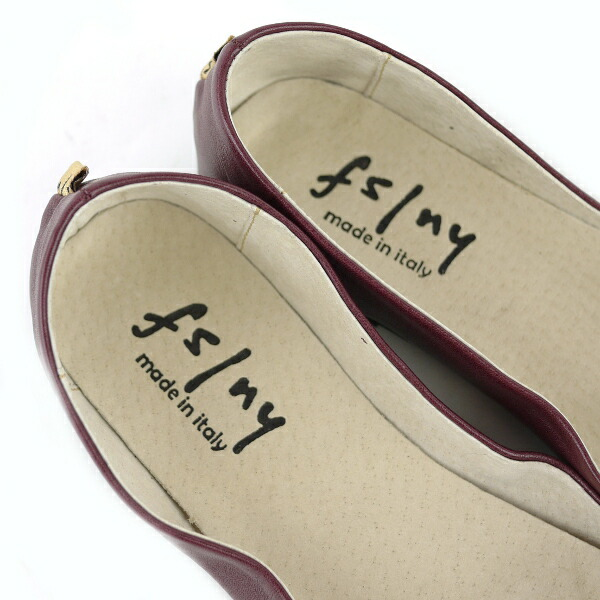"Detailed image of fs/ny( F S slash N Y) leather ballet shoes ""SLOOP NAPPA"", SLOOP-NAPPA"