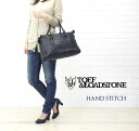 "TOFF&LOADSTONE( トフ & lodestone) goat leather stitch 2way Boston bag ""Hand stitch"", TL-4020-1471202"