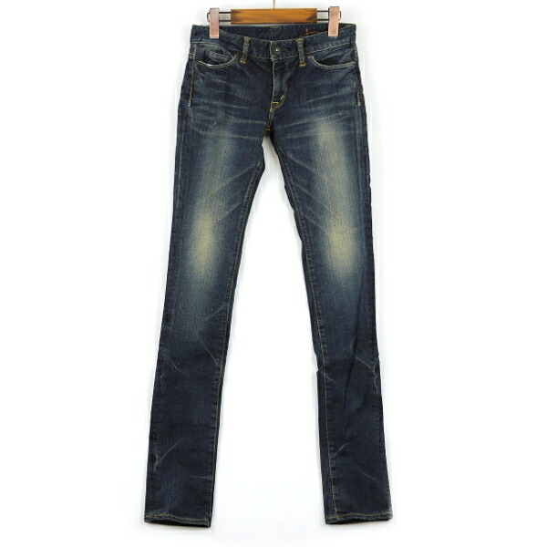 "Color image of KURO( black) cotton full-length skinny 01 denim underwear ""Fibro Vintage Wash "", FIBRO-VW01"