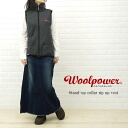 WOOL POWER (ウールパワー) stand collar zip up vest-7244-0321202