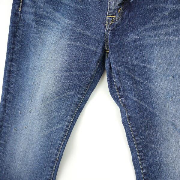 "Detailed image of KURO( black) cotton polyurethane full-length skinny 03 denim underwear ""Fibro Vintage Wash "", FIBRO-VW03"