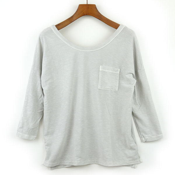 JAMES PERSE(ジェームスパース) コットン 七分袖 ワイドネック Tシャツ・16-03-25-03305のカラー画像