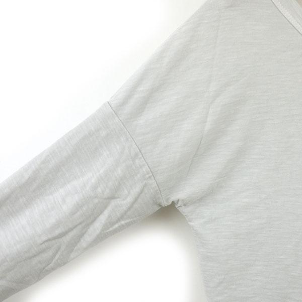 JAMES PERSE(ジェームスパース) コットン 七分袖 ワイドネック Tシャツ・16-03-25-03305の詳細画像