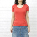 "three dots (threadz) cotton short sleeve U-neck T shirt ""Jessica Tee""-AA 1S-004Y-0441301"