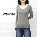 JAMES PERSE (James Perth) cotton polyurethane long sleeve round neck T shirt-WJE3792-0171202