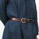 FEU D'UN PHARE( フューダンファーレ) leather belt (25mm), F53127-47-0301301