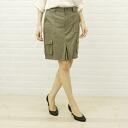 ISATO DESIGN WORKS( イサトデザインワークス) cupra cotton knee length cargo skirt, ILS-25902B-2251301