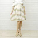 Dee Flavor( D beauty) rayon polyester horizontal stripe knee length pleated skirt .430015-0501301