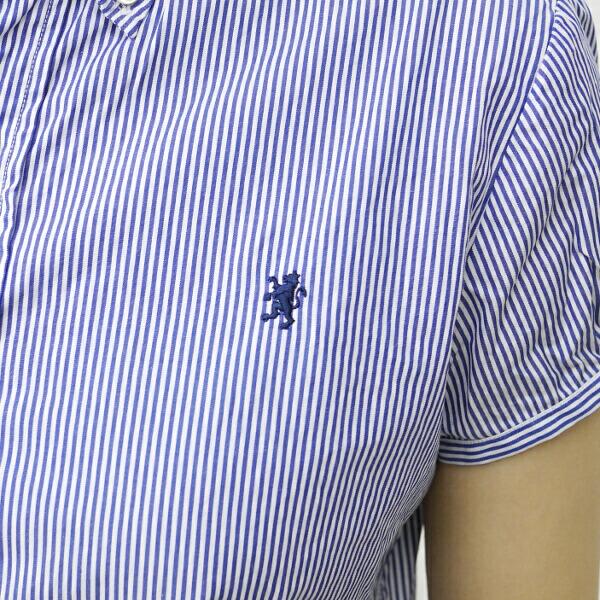 ジムフレックス Gymphlex コットン ストライプ パフスリーブ ボタンダウンシャツ・J-0645NPの詳細画像