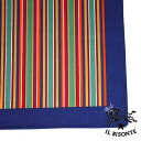 IL BISONTE( イルビゾンテ) cotton stripe pattern large size bandana .411671-0061301