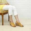 "GAIMO( ガイモ) leather backstrap espadrille wedge sole sandals ""QUEARS"", QUEA-V-0241301"