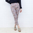 DEEP BLUE( Deep Blue) print twill stretch floret pattern leggings underwear .72115-1,621,301