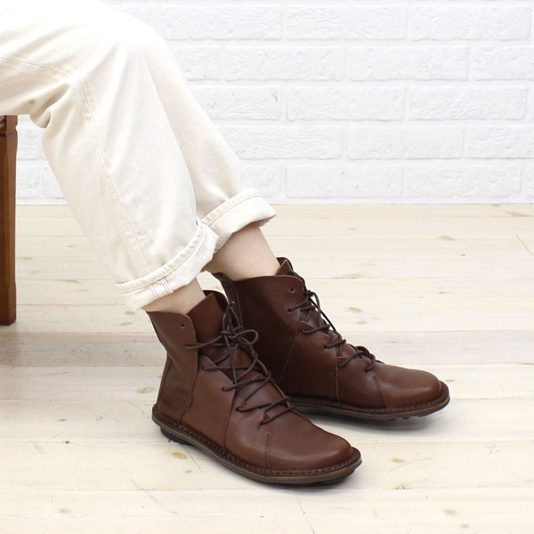 "Color image of TRIPPEN( トリッペン) leather race up bootie ""NOMAD"", NOMAD-WAW"