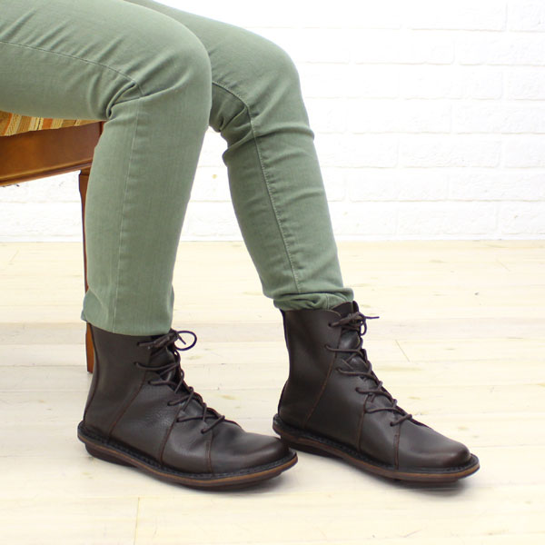"""Color image of TRIPPEN( トリッペン) leather race up bootie """"NOMAD"""", NOMAD-WAW"""