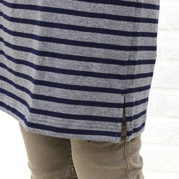 ORCIVAL(オーチバル・オーシバル) コットン バスクシャツ  7分袖 Uネック ワンピース (無地&ボーダー)・B203-BCB の詳細画像