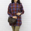 IL BISONTE (イルビゾンテ) leather バケッタヴィンテージ half moon-shaped shoulder bag (S), 5412307310-0061302