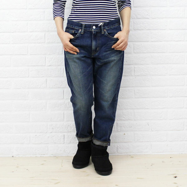 Color image of DEEP BLUE( Deep Blue) cotton boyfriend ankle length denim underwear .73388